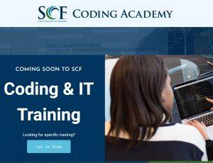 SCF Coding Academy website